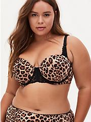 Leopard Microfiber Strappy Push-Up Strapless Bra , FIFTIES LEOPARD BEIGE, alternate