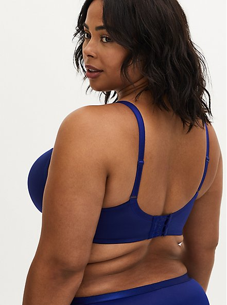 Sapphire Blue Shine 360° Back Smoothing™ Lightly Lined T-Shirt Bra, DEEP WATERS BLUE, alternate
