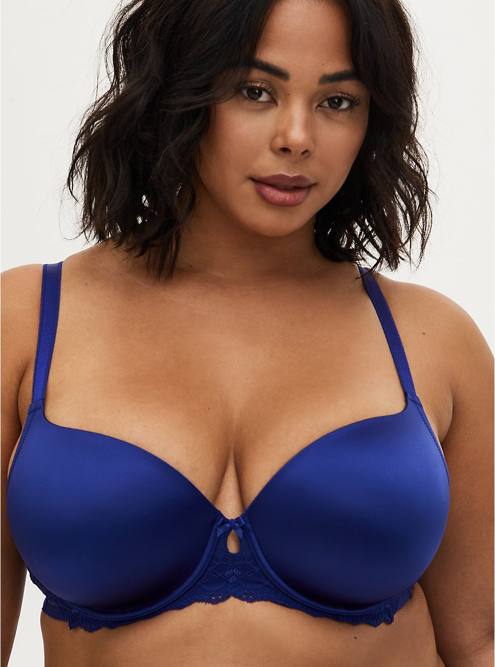 Sapphire Blue Shine 360° Back Smoothing™ Lightly Lined T-Shirt Bra, DEEP WATERS BLUE, hi-res