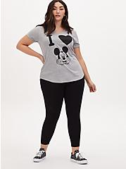Disney Mickey Mouse Black Crop Legging, DEEP BLACK, alternate