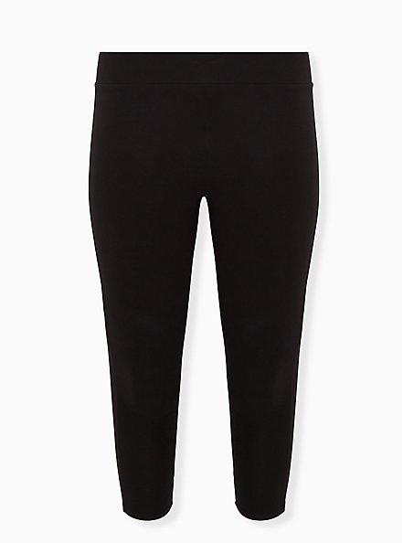 Plus Size Disney Mickey Mouse Black Crop Legging, DEEP BLACK, hi-res
