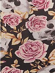 Black Skull Rose Second Skin Brief Panty, SKULL ROSE TATTOO BLACK, alternate