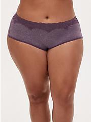 Heather Vintage Purple Microfiber Cheeky Panty , VINTAGE VIOLET, hi-res