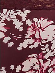 Burgundy Purple Floral Second Skin Cheeky Panty, WINETASTING, alternate