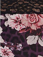 Purple Leopard Floral Second Skin Cheeky Panty , LEOPARD FLORAL PURPLE, alternate