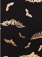 Gold Bat & Black Wide Lace Cotton Boyshort Panty , FLYING BATS, alternate