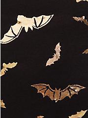 Gold Bat & Black Wide Lace Cotton Thong Panty , FLYING BATS, alternate