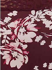 Burgundy Purple Floral Second Skin Thong Panty , WINETASTING, alternate