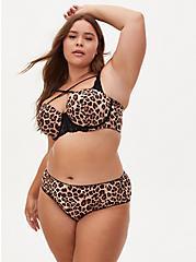 Leopard Microfiber Cage Back Hipster Panty , FIFTIES LEOPARD BEIGE, alternate