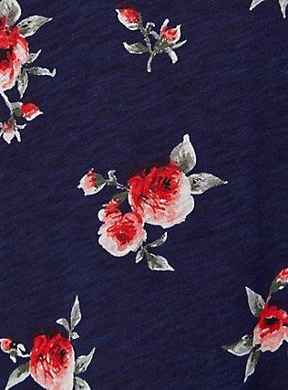 Plus Size Classic Fit Pocket Tee - Heritage Slub Floral Navy, FLORALS-NAVY, alternate