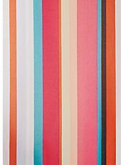 Plus Size Multi Stripe Chiffon Hi-Lo Kimono, STRIPES, alternate