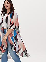 Multi Geo Chiffon Hi-Lo Duster Kimono, GEO-MULTI, alternate