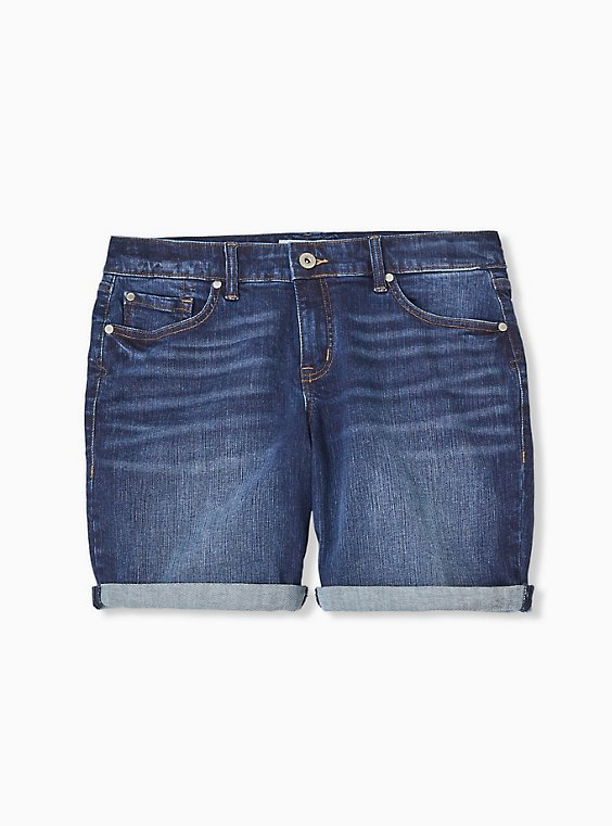 Mid Rise Bermuda Short - Vintage Stretch Medium Wash, , hi-res