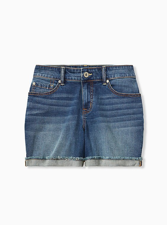 Mid Short - Vintage Stretch Dark Wash, , hi-res