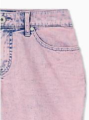 Mid Short - Vintage Stretch Acid Wash Lavender Purple, LAVENDER, alternate