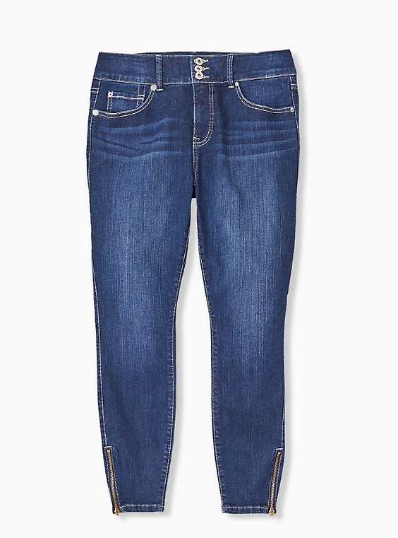 Jegging - Premium Stretch Medium Wash with Zip Hem, , hi-res