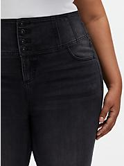 Corset Skinny Jean - Premium Stretch Washed Black, COOL CAT, alternate