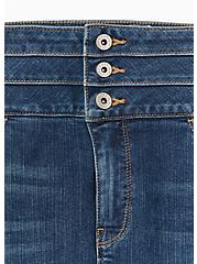 Triple Waistband Jean - Premium Stretch Medium Wash , THAMES, alternate