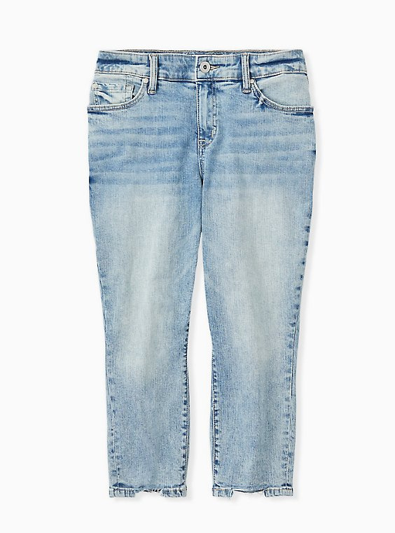 Plus Size Crop Mid Rise Skinny Jean - Vintage Stretch Light Wash, , hi-res