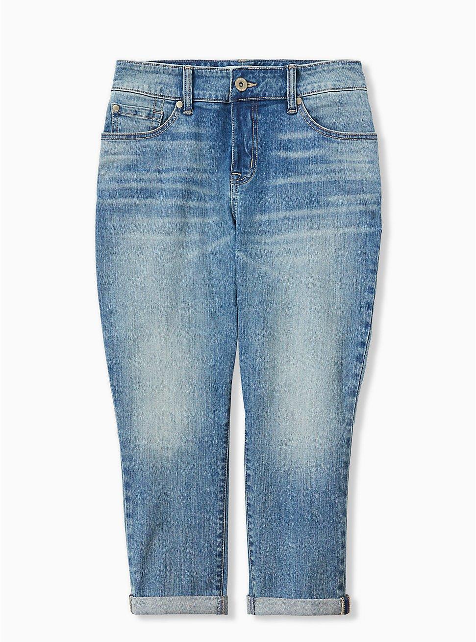 Crop Mid Rise Skinny Jean - Vintage Stretch Light Wash, CRUISE CONTROL, hi-res