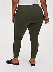 Sky High Skinny Jean - Super Soft Olive Green , DEEP DEPTHS, alternate