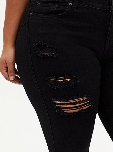 Crop Bombshell Skinny Jean - Premium Stretch Black, BLACK, alternate
