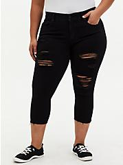 Crop Bombshell Skinny Jean - Premium Stretch Black, BLACK, hi-res