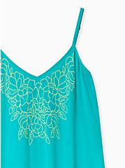 Sophie - Turquoise Embroidered Gauze Swing Cami, DYNASTY GREEN, alternate