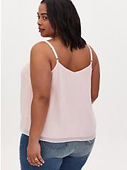 Sophie - Peach Pink Chiffon Tonal Beaded Swing Cami, GOSSAMER PINK, alternate