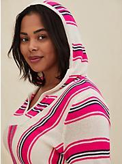 Neon Pink Stripe Baja Hoodie, STRIPE - MULTI, alternate