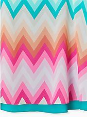 Sophie - Multi Chevron Stripe Chiffon Double Layer Swing Cami, CHEVRON - WHITE, alternate