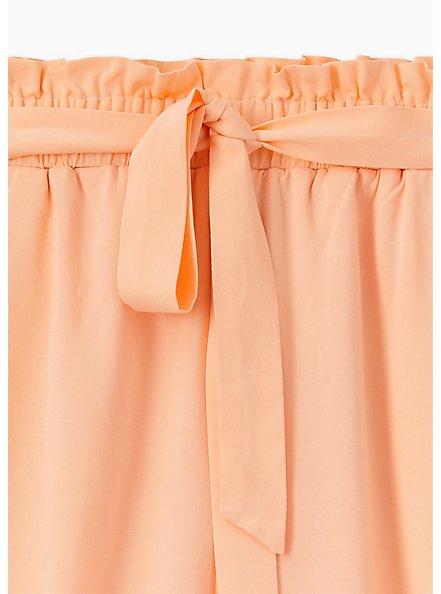 Self Tie Paperbag Waist Mid Short - Challis Peach, PEACH NECTAR, alternate
