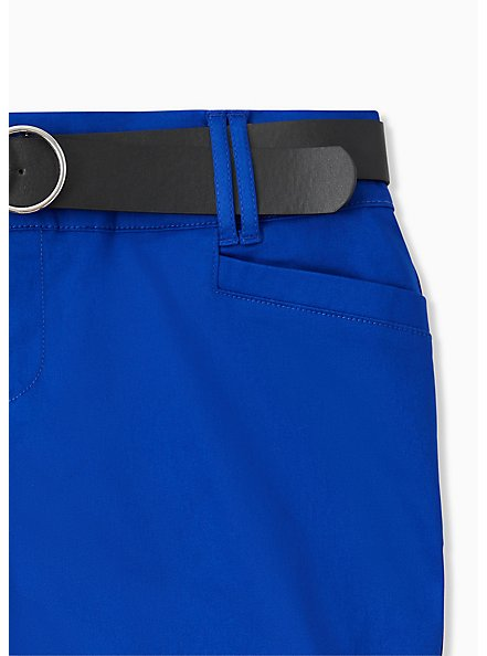 Belted Mid Short - Sateen Electric Blue, ELECTRIC BLUE, alternate