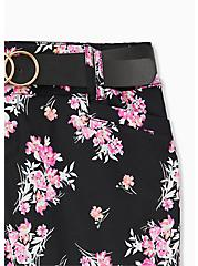 Belted Mid Short - Sateen Floral Black, FLORAL, alternate