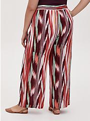 Multi Ikat Stripe Crinkle Gauze Wide Leg Pant, STRIPES, alternate