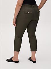 Crop Self Tie Utility Pant - Twill Olive Green, DEEP DEPTHS, alternate