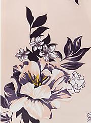 Light Pink Floral Georgette Hi-Lo Blouse , FLORAL - PINK, alternate