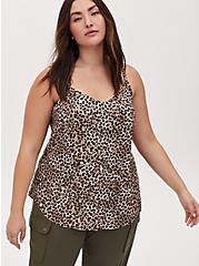 Plus Size Ava - Cheetah Print Challis Cami, CHEE LEOPARD, hi-res