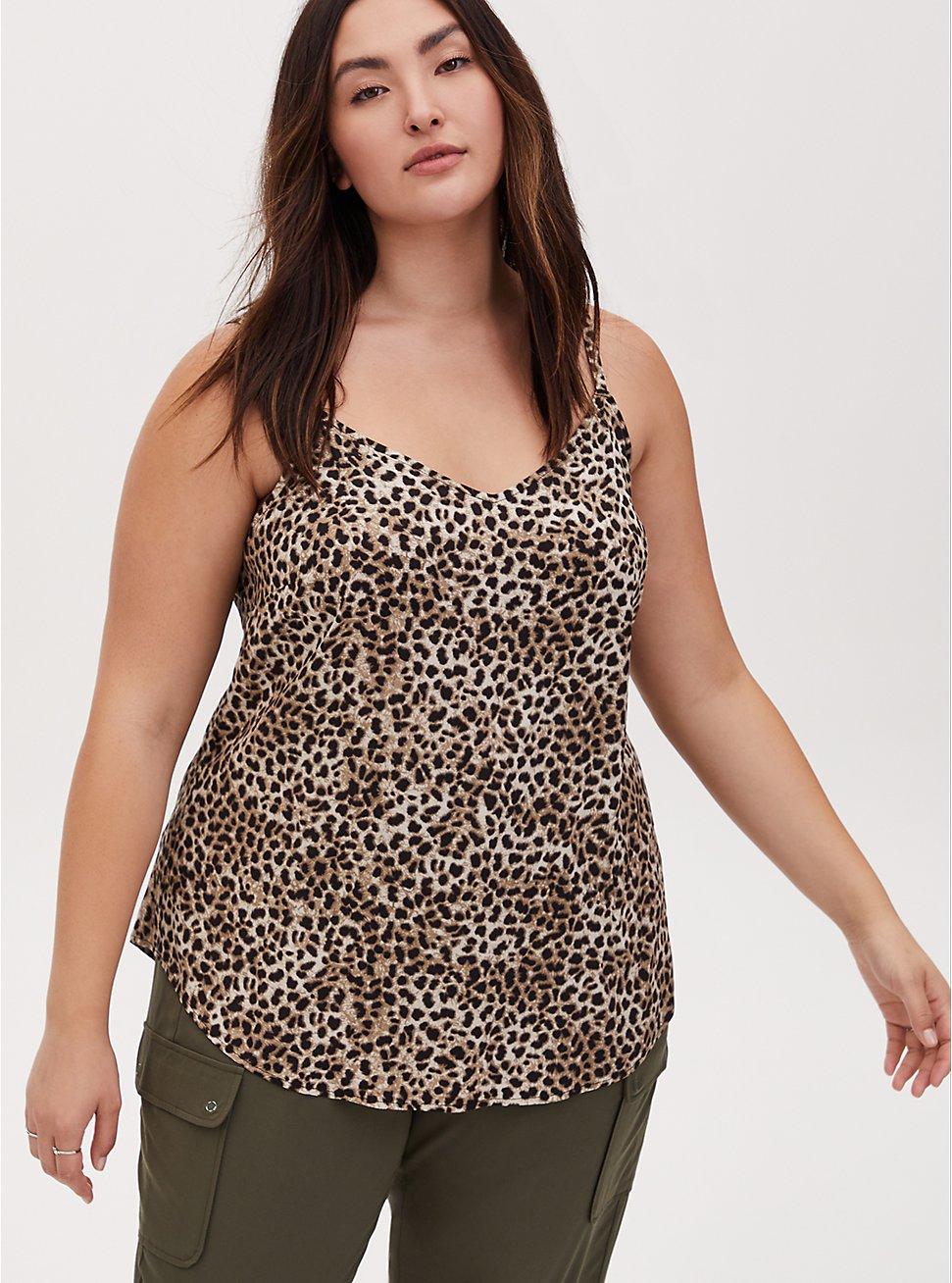 Ava - Cheetah Print Challis Cami, CHEE LEOPARD, hi-res
