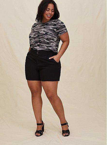 Mid Short - Crosshatch Black, DEEP BLACK, alternate