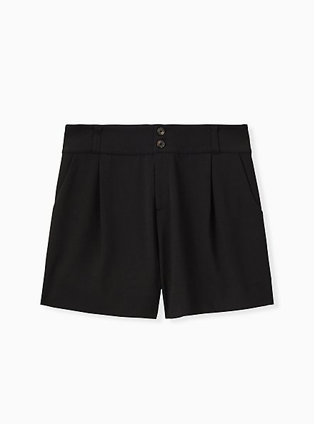 Mid Short - Crosshatch Black, DEEP BLACK, hi-res