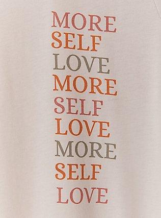 More Self Love Taupe Crew Tee, MEDIUM HEATHER GREY, alternate