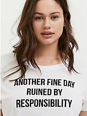 Plus Size Fine Day White Crew Tee, BRIGHT WHITE, hi-res