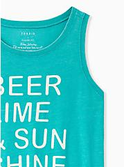 Beer & Sunshine Classic Fit Crew Tank - Vintage Burnout Turquoise, DYNASTY GREEN, alternate