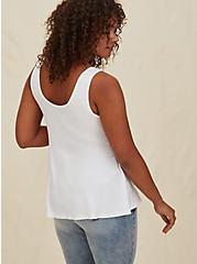 Super Soft Ribbed White Peplum Tank , CLOUD DANCER, alternate