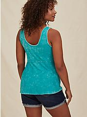 Super Soft Rib Turquoise Mineral Wash Peplum Tank , DYNASTY GREEN, alternate