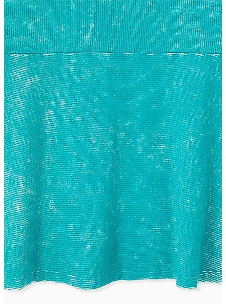 Super Soft Rib Turquoise Mineral Wash Peplum Tank , DYNASTY GREEN, alternate