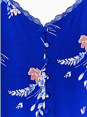 Electric Blue Floral Studio Knit Button Front Swing Cami, PRETTY FLORAL, alternate