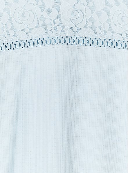 Light Blue Textured Lace Yoke Top, BABY BLUE, alternate