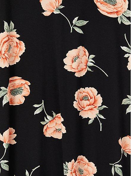 Favorite Tunic Tee - Super Soft Floral Black , BLOOM FLORAL, alternate